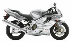 Honda 600 F4 2004 silver labels graphics