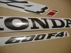 Honda CBR 600 F4i 2004 silver decal set