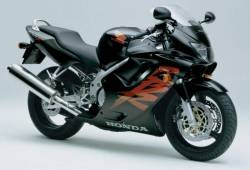 Honda CBR 600 F4 2000 black decals kit
