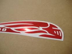Honda vtx 1800 chrome red gas tank graphics set kit