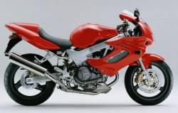 Honda vtr 1000f 1998 red complete sticker kit