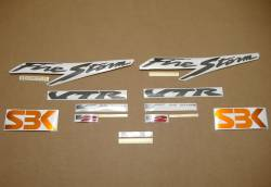 Honda VTR 1000F 1998 red stickers kit