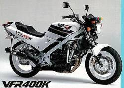 Honda VFR 400K 1992 NC21 white decals