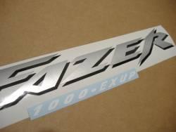 Yamaha FZS 1000 2001 Fazer red decals