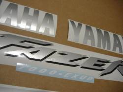 Yamaha FZS 1000 2001 red adhesives set