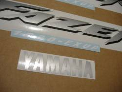 Yamaha FZS 1000 2001 red labels graphics