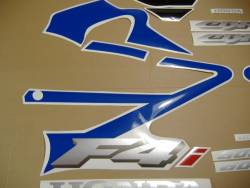 Honda CBR 600 F4i 2005 blue decal set