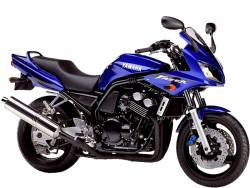 Yamaha FZS 600 2002 Fazer blue decals