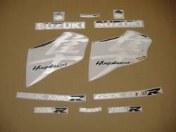 Suzuki hayabusa 1340 k8 mirrored chrome decals set