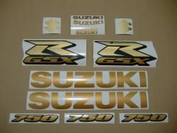 Suzuki GSXR 750 K9 gold stickers