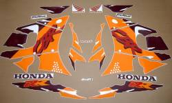 Honda CBR 900RR 1994 silver stickers kit
