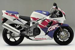 Honda 900RR 1994 SC28 white stickers set