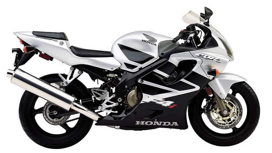 honda cbr 600 f4i 2002 decals set full kit silver black version moto. Black Bedroom Furniture Sets. Home Design Ideas