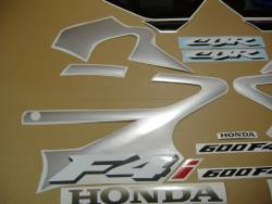 Honda CBR 600 F4i 2002 silver decal set