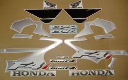 Honda 600 F4 2002 silver labels graphics