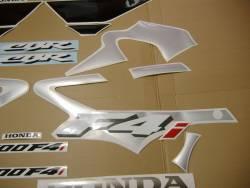 Honda CBR 600 F4i 2002 silver stickers