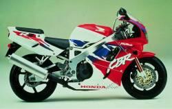 Honda 900RR 1995 SC28 red stickers set