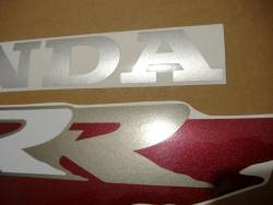 Honda CBR 900RR SC28 1995 black stickers