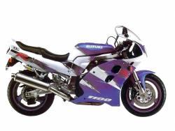 Suzuki GSXR 1100 1993 white labels graphics