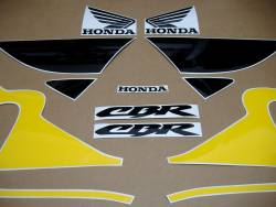 Honda 600 F4 1999 yellow stickers set