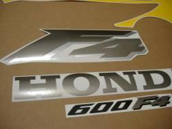 Honda 600F F4 1999 yellow logo graphics