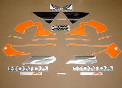 Honda 600 F4 2000 orange black stickers set