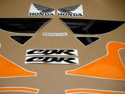 Honda CBR 600 F4 2000 orange stickers kit
