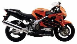 Honda CBR 600F F4 2000 orange decals
