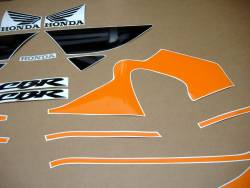 Honda CBR 600 F4 2000 orange labels graphics