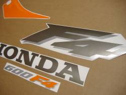 Honda CBR 600F F4 2000 orange adhesives set