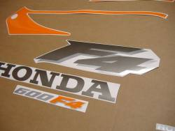 Honda 600 F4 2000 orange complete sticker kit