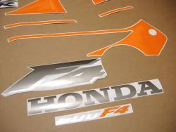 Honda 600 F4 2000 orange full decals kit