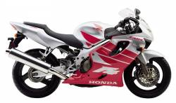 Honda 600 F4 2000 silver stickers set