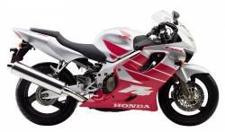 Honda 600F F4 2000 silver logo graphics