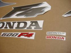 Honda CBR 600F F4 2000 silver decal set