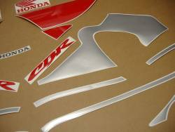 Honda CBR 600 F4 2000 silver decals kit