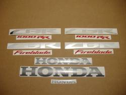 Honda 1000RR 2014 SC59 black stickers set