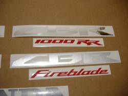 Honda 1000RR 2014 Fireblade black decals
