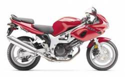 Suzuki 650S 1999 red full decals kit