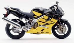 Honda CBR 600 F4i 2003 black adhesives set