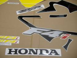Honda 600 F4 2003 black full decals kit