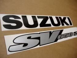 Suzuki 650S 2000 yellow stickers set