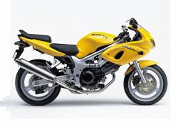 Suzuki SV 650S 2000 yellow decals kit