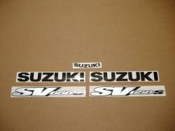 Suzuki 650S 2000 yellow labels graphics