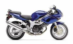 Suzuki 650S 2001 blue complete sticker kit
