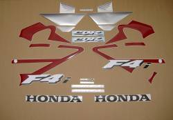 Honda 600 F4i 2001 custom stickers set