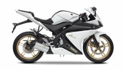 Yamaha YZF R125 2012 white decals