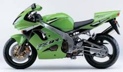 Kawasaki ZX-9R 2003 Ninja green decals