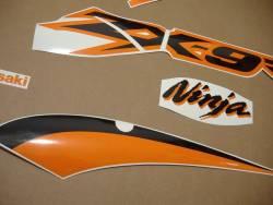 Kawasaki ZX9R 2003 Ninja orange silver decals kit