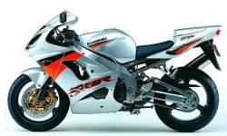Kawasaki ZX-9R 2003 Ninja silver logo graphics